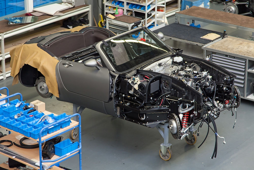 Wiesmann Roadster in der Endmontage