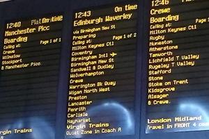 Mit dem Zug von London nach Birmingham