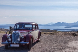 Riley RMA auf dem Cattle Pass nach Applecross