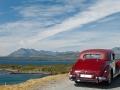 Riley RMA auf der Isle of Skye, Blick auf die Cuilin Hills