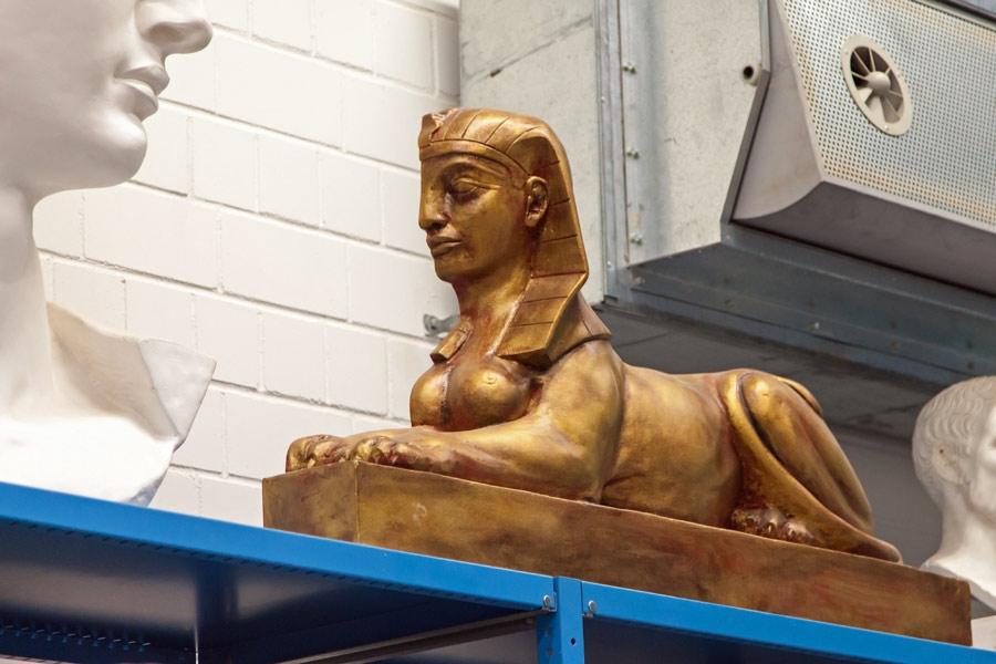 Sphinx aus Styropor